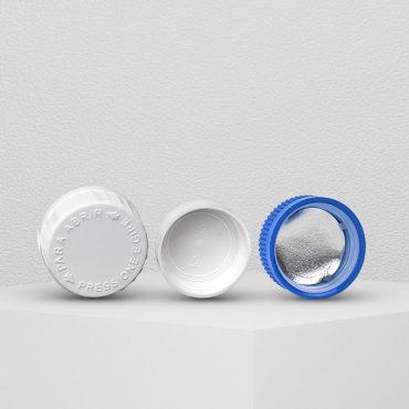 Tampas Plásticas com Selos de Indução ou Vedantes